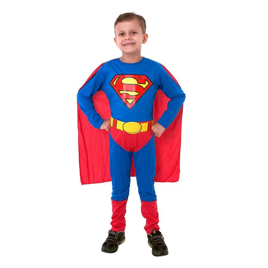 Fantasia Super-Homem Clássico Infantil