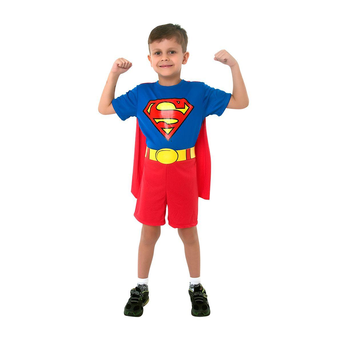Fantasia Super-Homem Clássico Macacão Curto