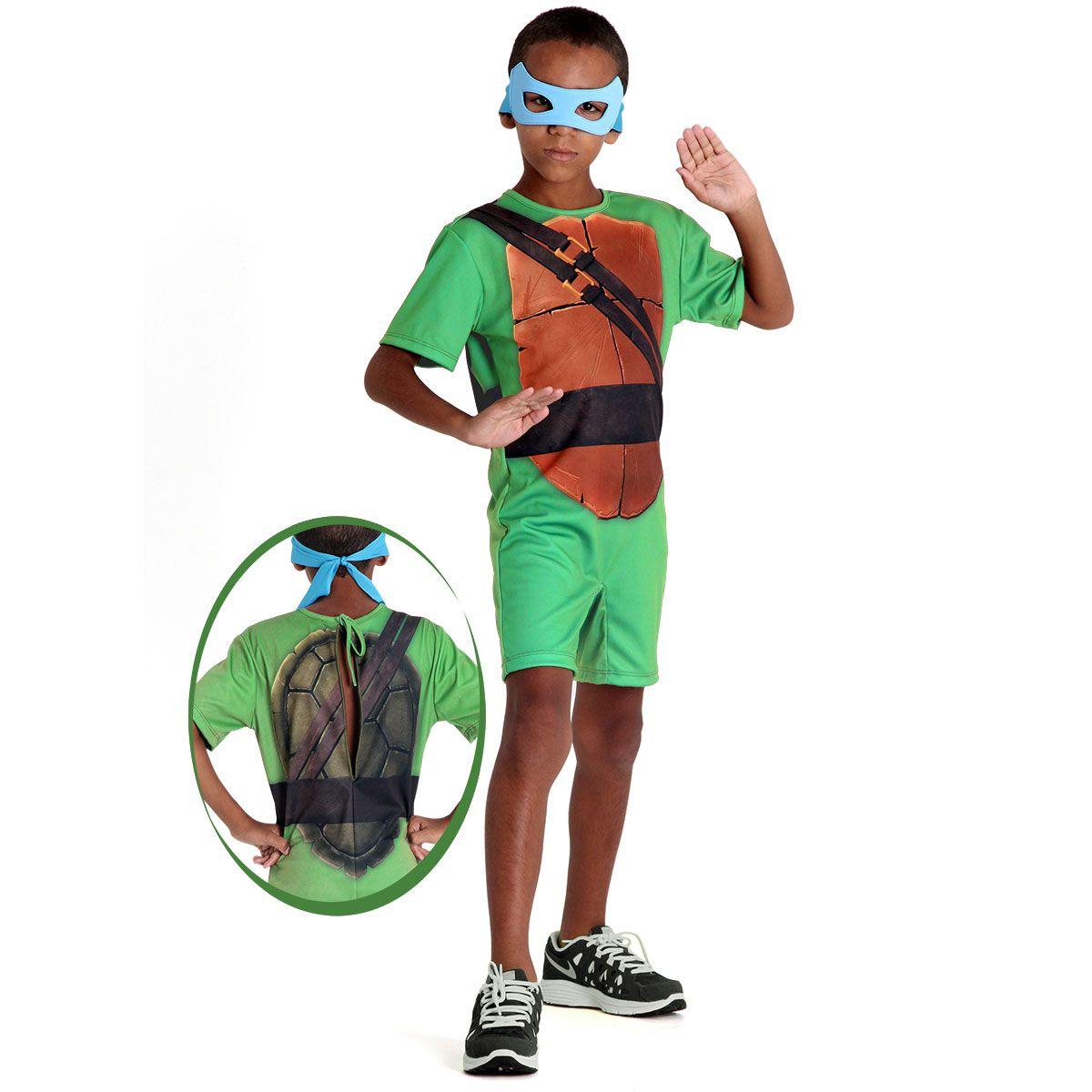 Fantasia Tartarugas Ninjas Leonardo Curta