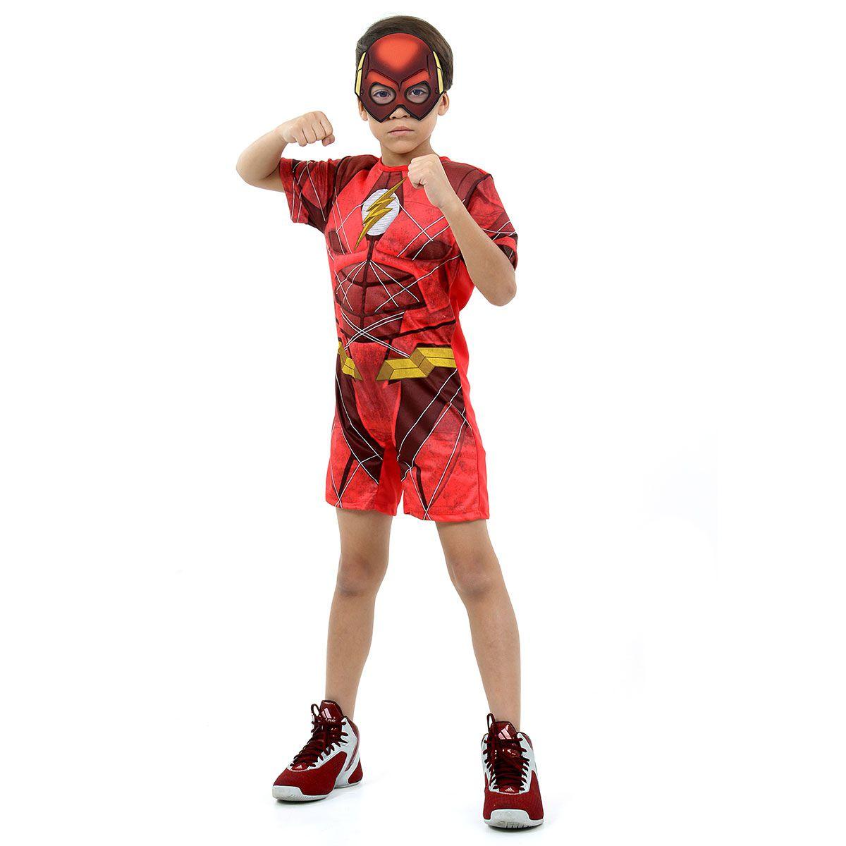 Fantasia The Flash com Musculatura Curta