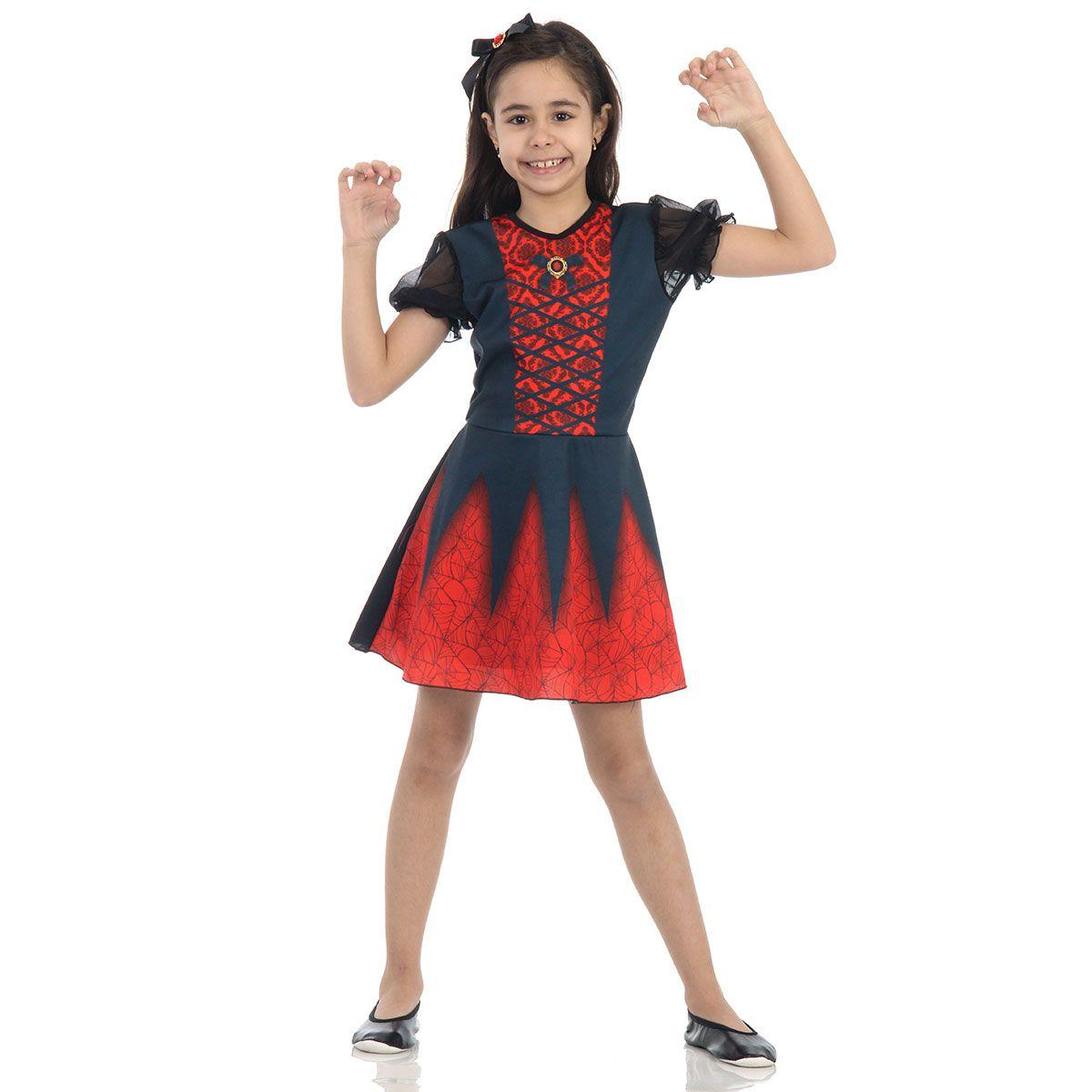 Fantasia Vampira Bella Infantil
