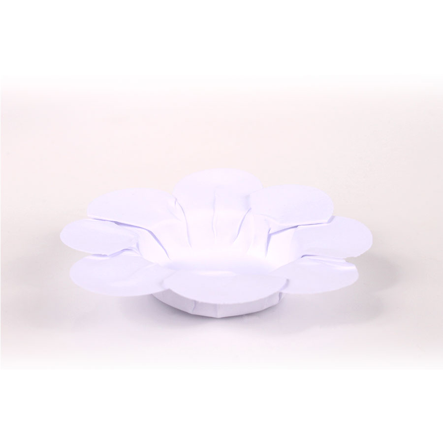 Forminha Flor P/ Doces 50Un Branca