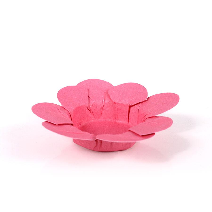 Forminha Flor P/ Doces 50Un Pink