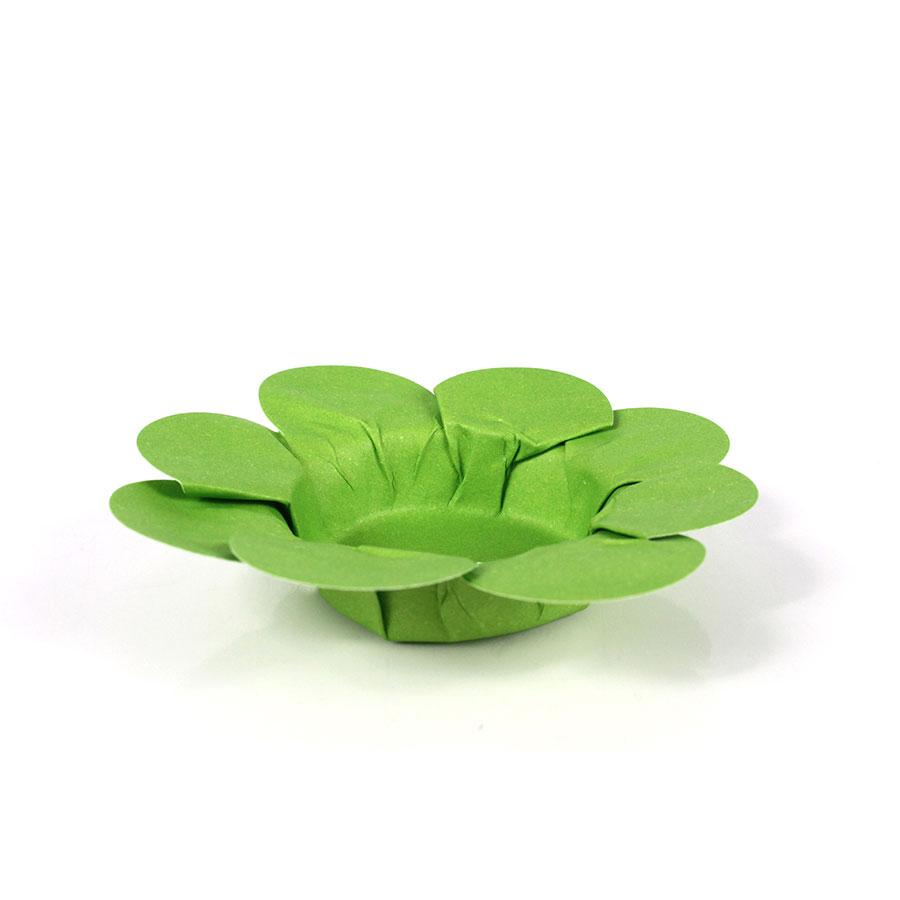 Forminha Flor P/ Doces 50Un Verde