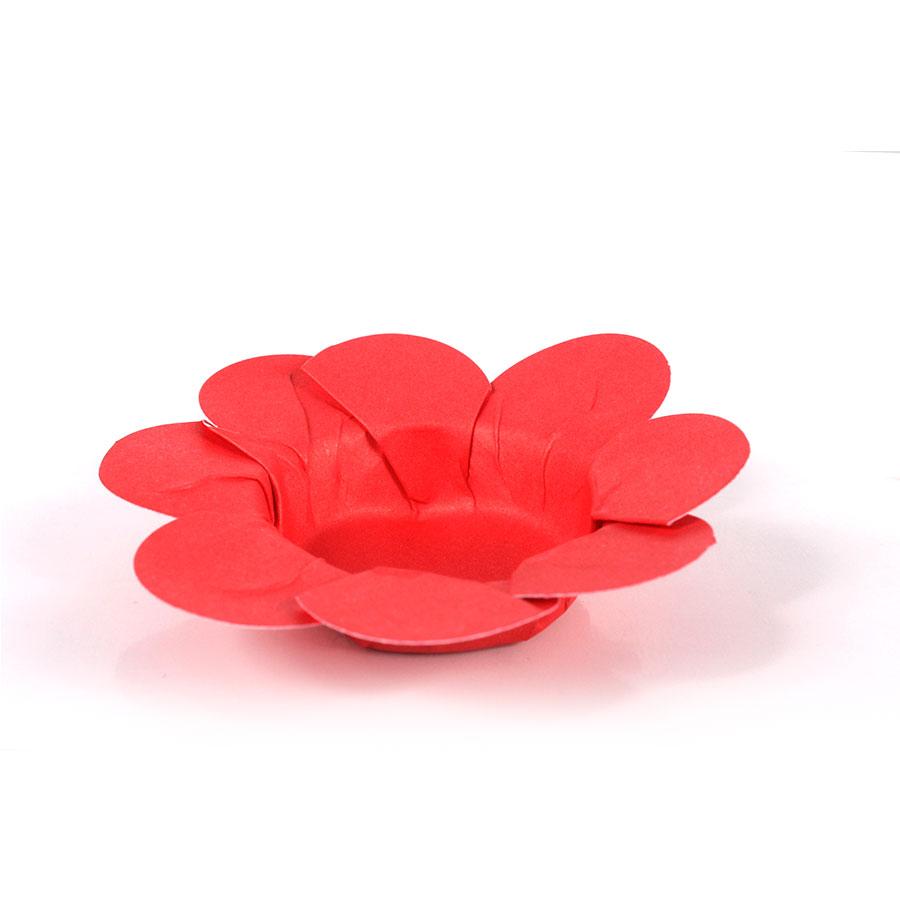 Forminha Flor P/ Doces 50Un Vermelha