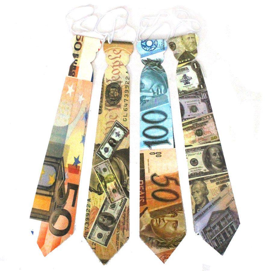 Gravata de Papel Estampa Dinheiro