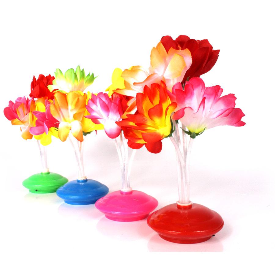 Kit 10 Abajoures Enfeites De Mesa Flor Coloridos