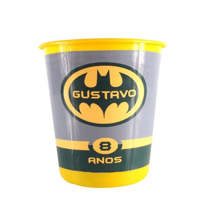 Kit 20 Lembrancinha Balde De Pipoca Personalizado Batman