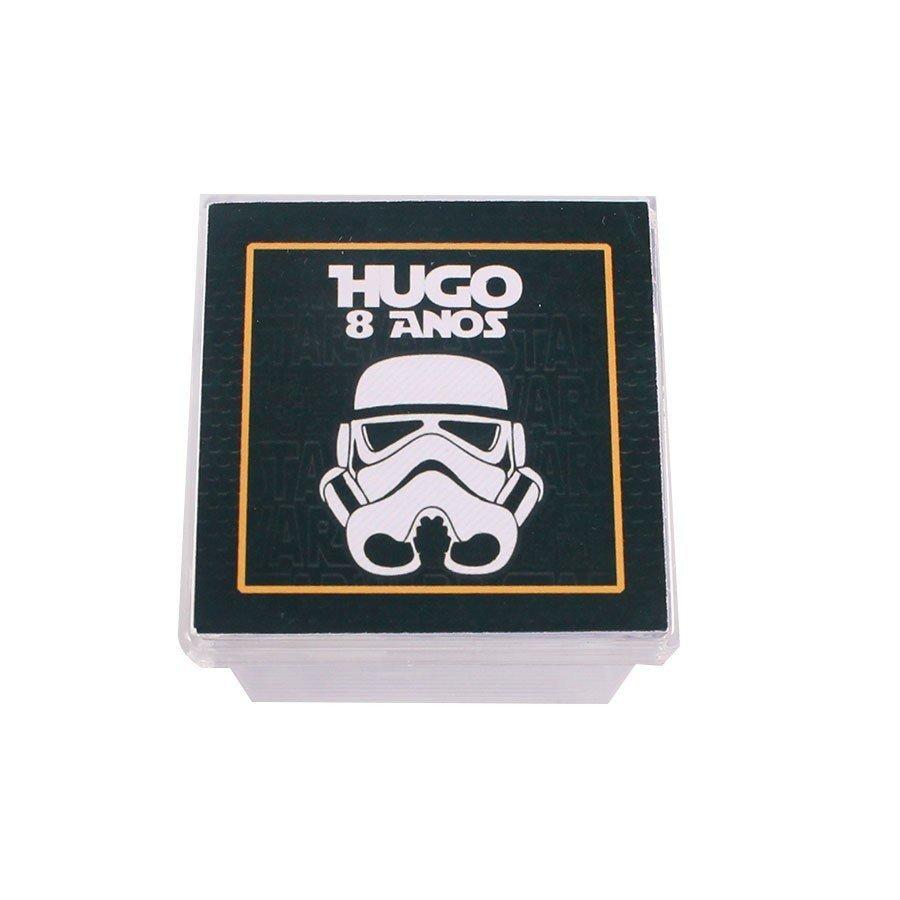 Kit 20 Lembrancinha Caixa Acrílica Personalizada Star Wars