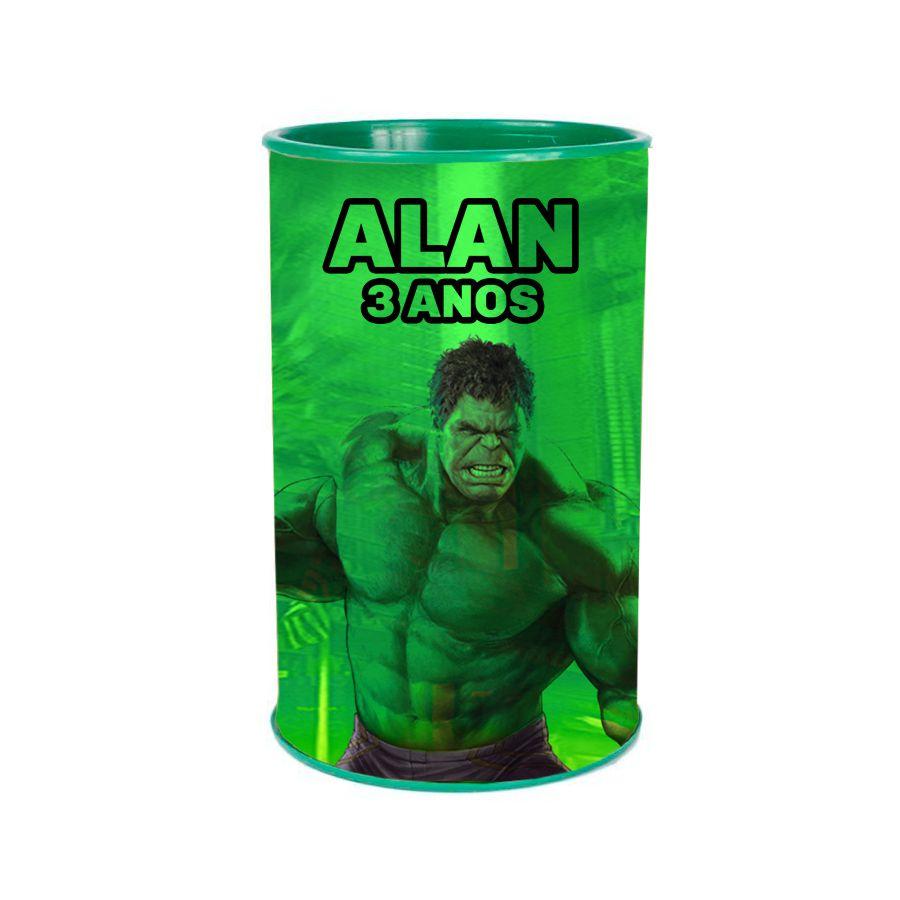 Kit 20 Lembrancinha Cofrinho Personalizado Incrível Hulk