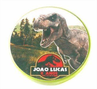 Kit 20 Tubete 3d Dinossauros + 20 Potinho Dinossauros
