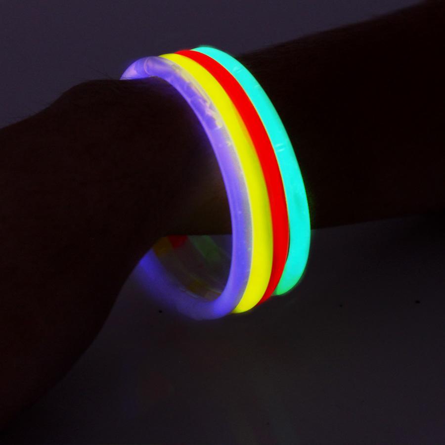 Kit 2 Tubos De Pulseira Neon + 1 Lança Confete De 30Cm