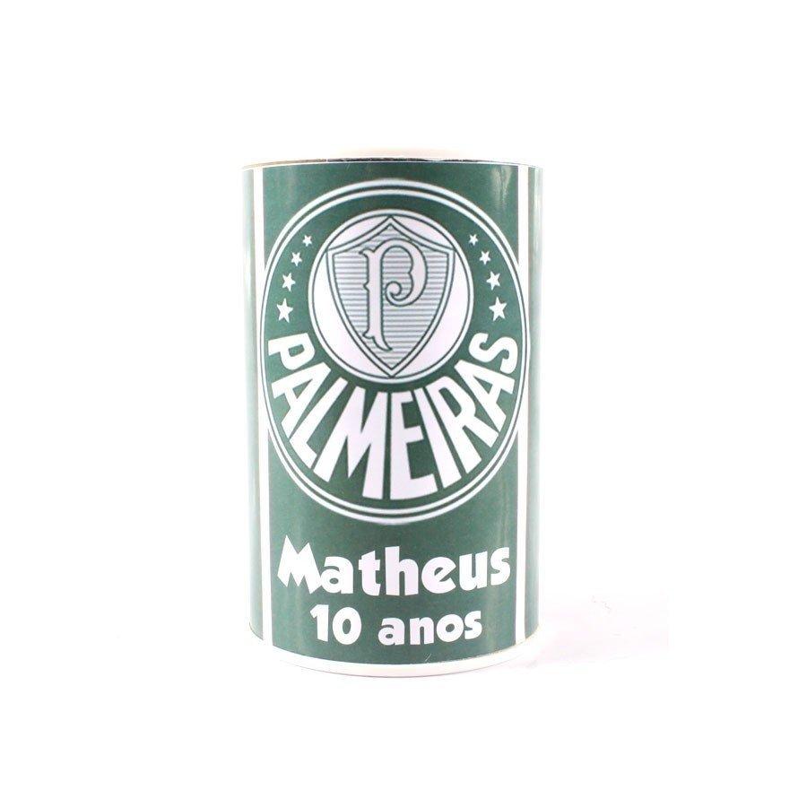 Kit 30 Lembrancinha Cofrinho Personalizado Palmeiras