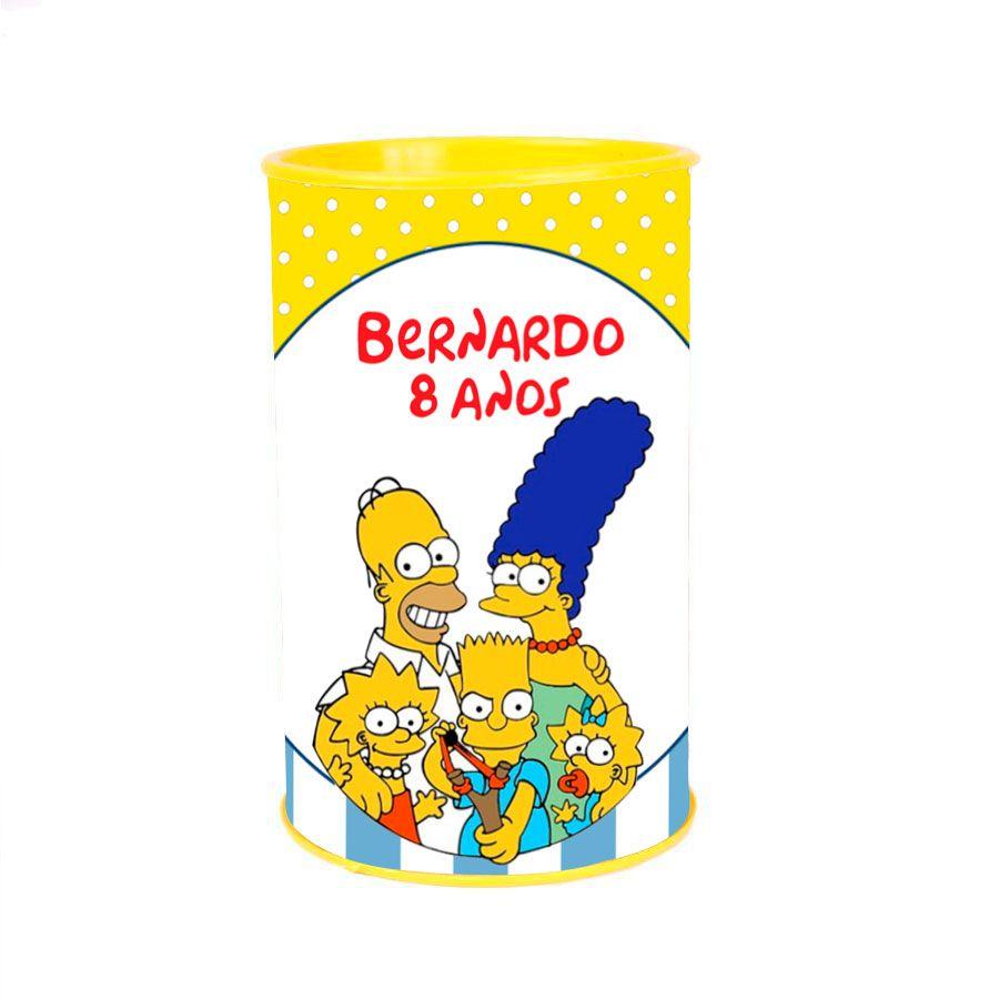 Kit 30 Lembrancinha Cofrinho Personalizado Simpsons