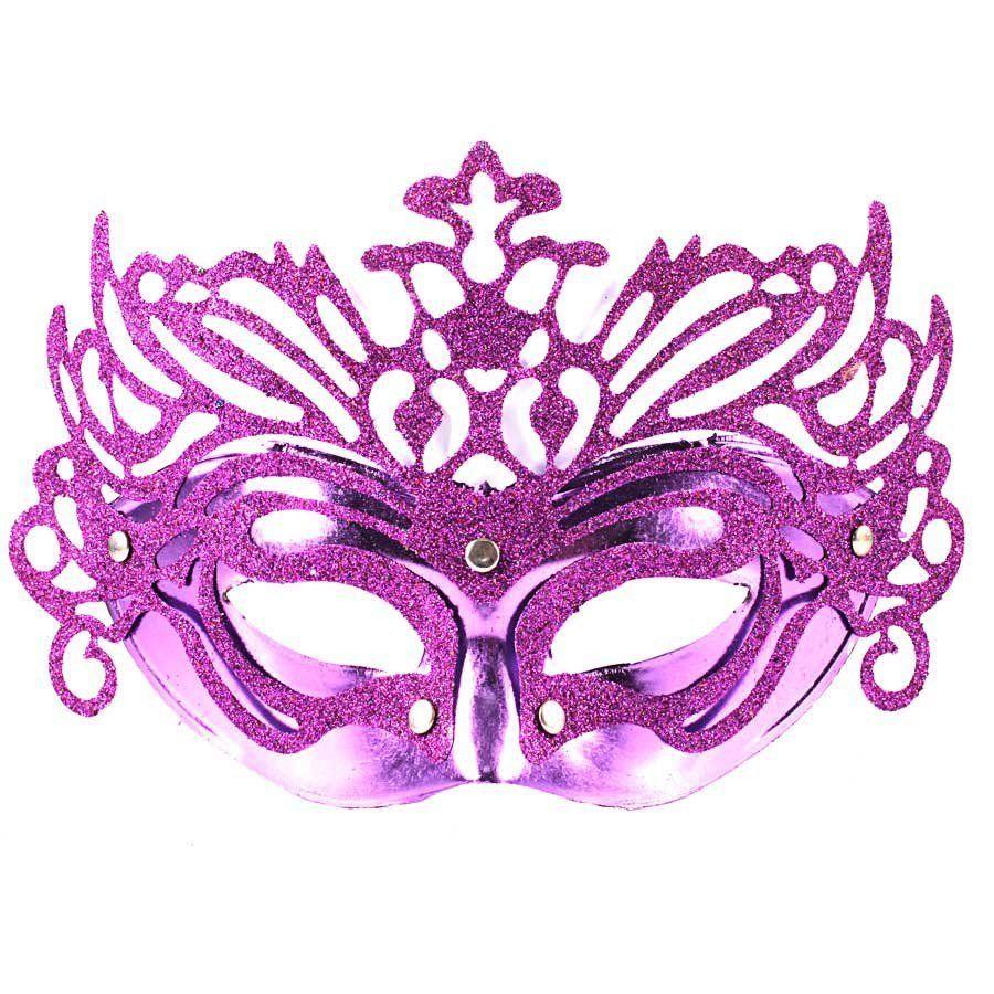 Kit 30 Máscaras Venezianas Luxo - Cores Sortidas