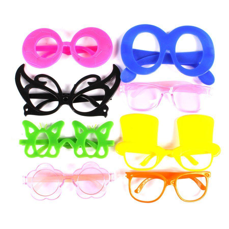 Kit 35 Óculos + 30tiaras + 100 Pulseiras Neon