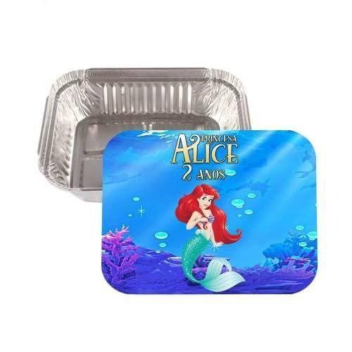 Kit 40 Lembrancinha Marmitinha Personalizada Princesa Ariel