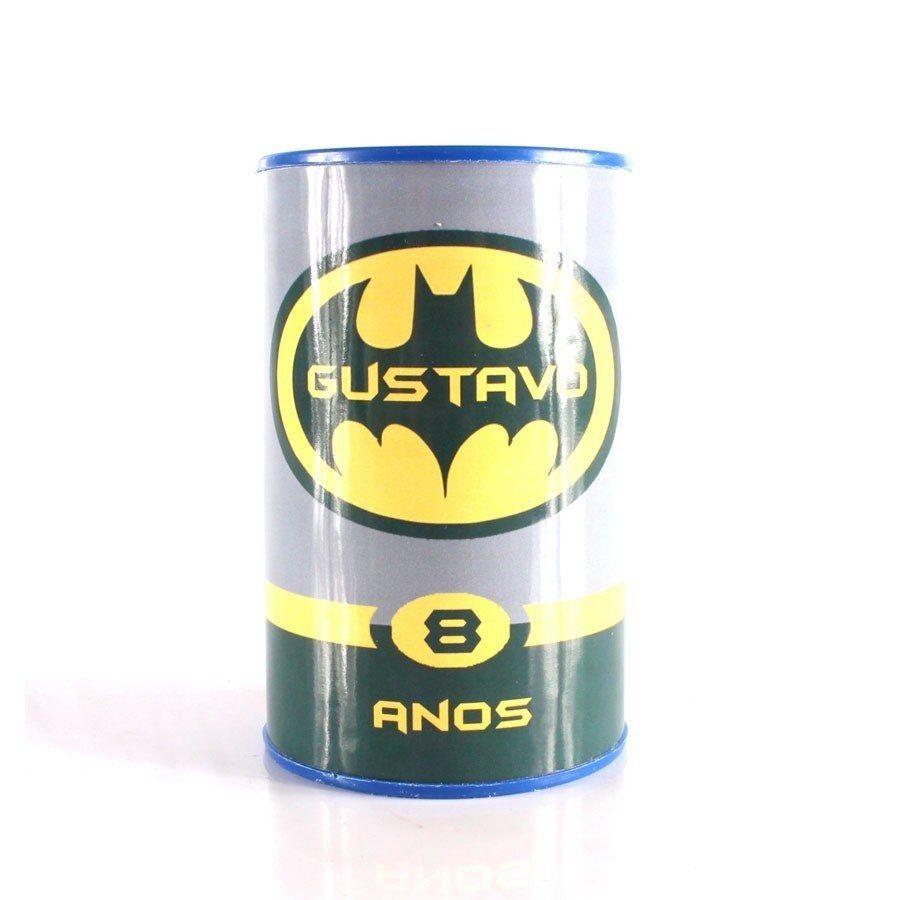 Kit 50 Lembrancinha Cofrinho Personalizado Batman