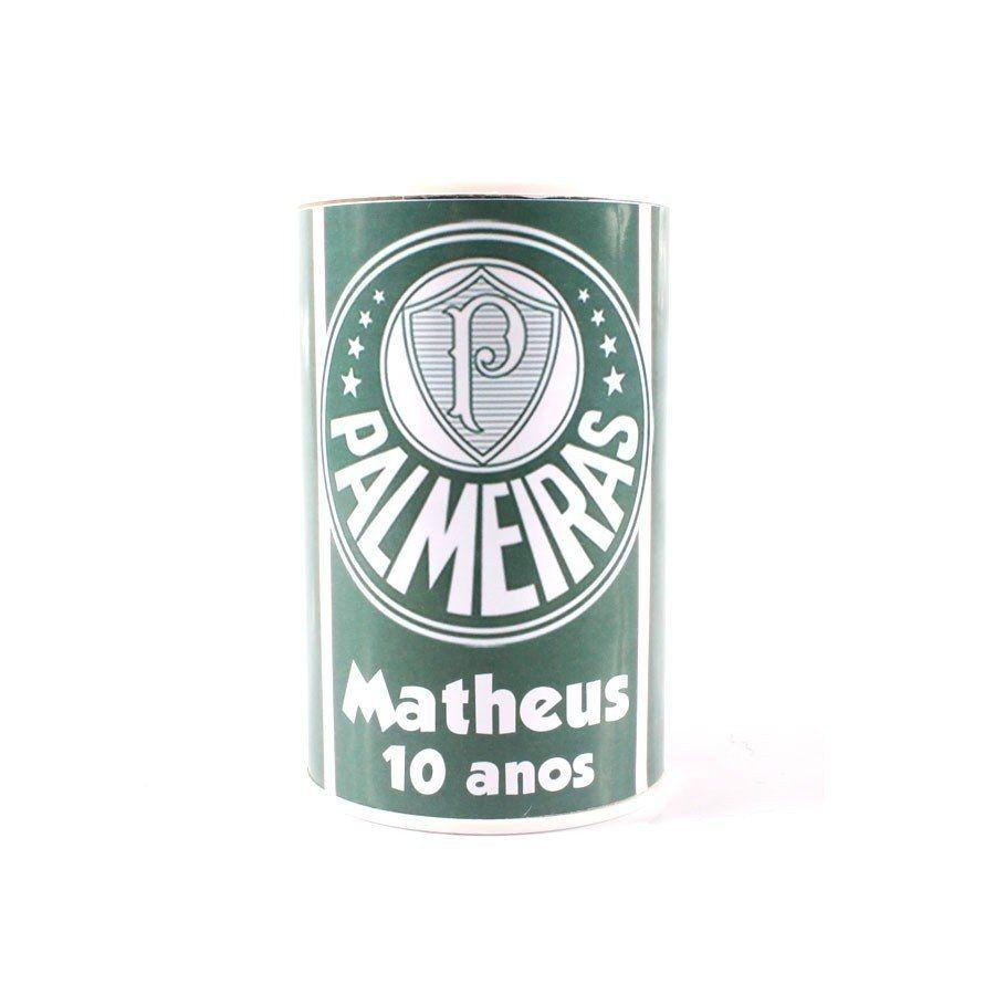 Kit 50 Lembrancinha Cofrinho Personalizado Palmeiras