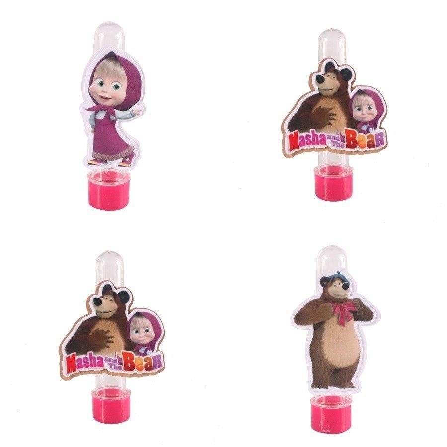 Kit 50 Lembrancinha Tubete 3d Personalizado Masha E O Urso
