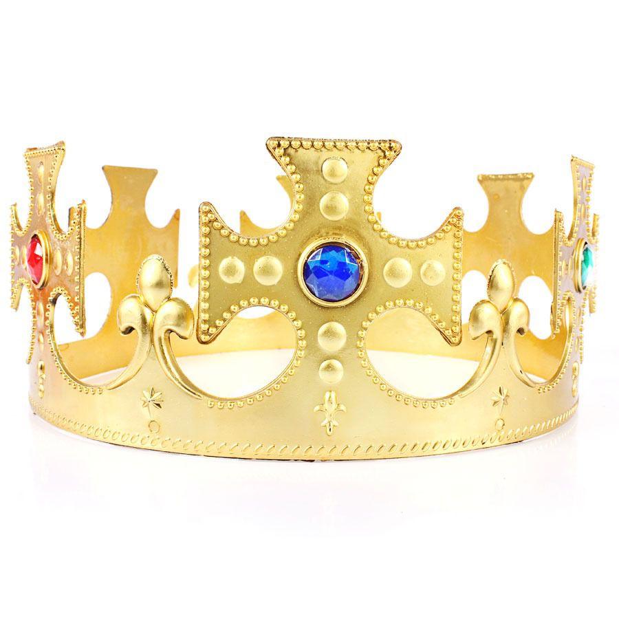 Kit 5 Coroas Rei Plástica Ajustável