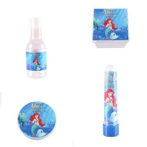 Kit 80 Itens Lembrancinhas Personalizadas Princesa Ariel