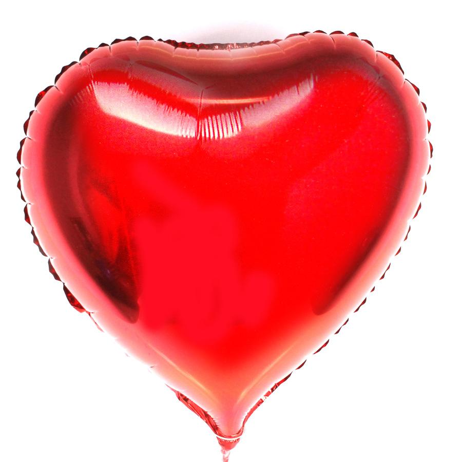 Kit 10 Balão Metalizado Coração Vermelho 48Cm