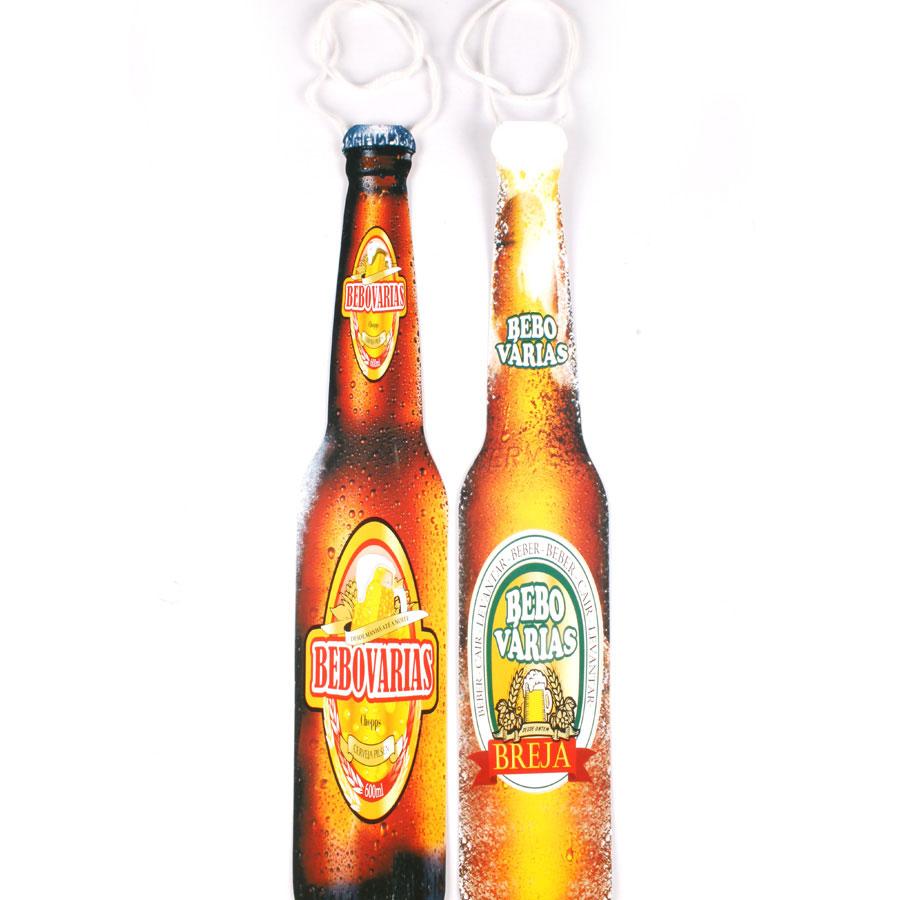 Kit Com 20 Gravatas Cartonadas Garrafa De Cerveja