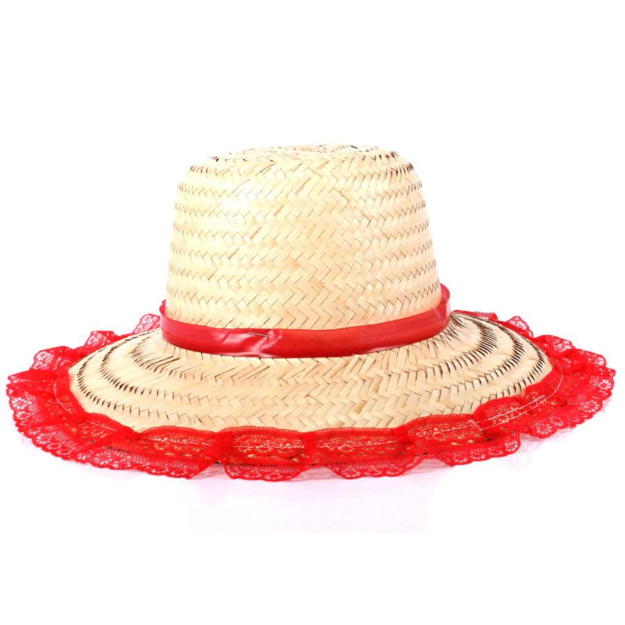 Kit Com 30 Chapéus De Palha Adulto Feminino - Aluá Festas 1e0be79c0d4