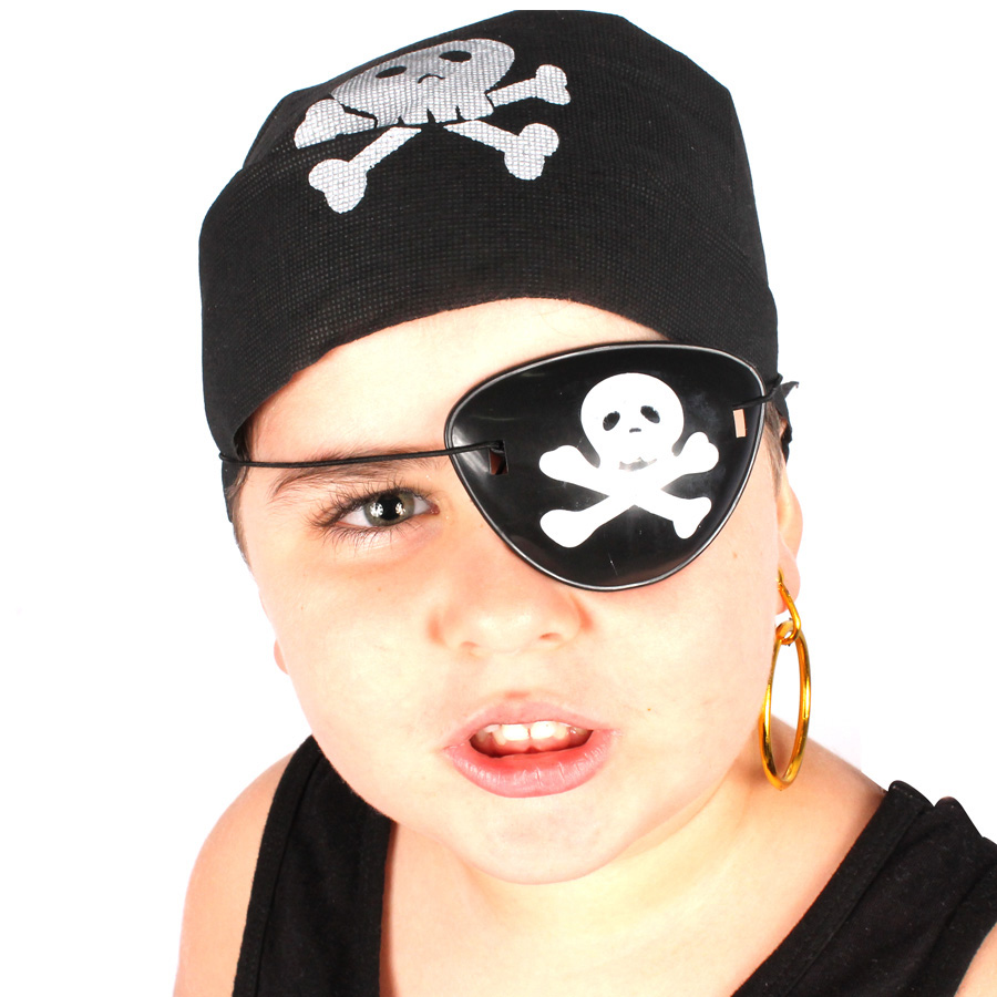 Kit Com 30 Kits Pirata ( Bandana, Tapa Olho E Brinco )