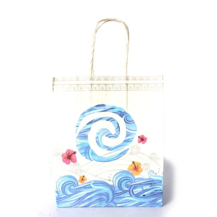 Kit Com 36 Sacola De Papel Kraft Moana