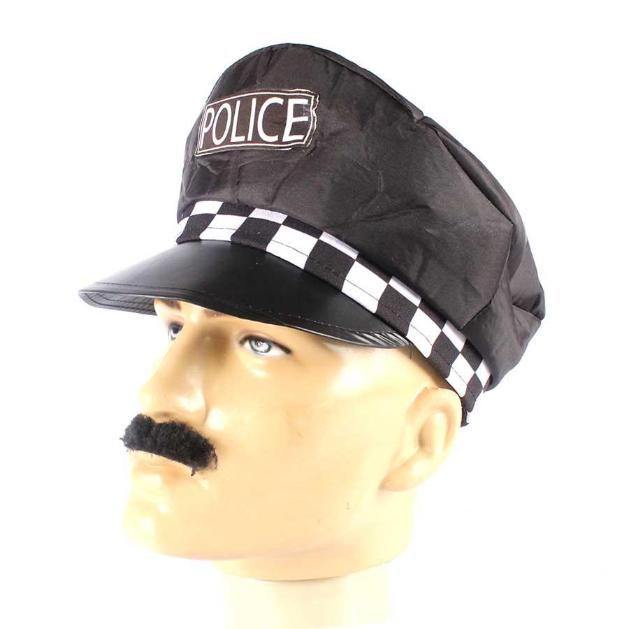 Kit Com 5 Quepes Policial Boina Farda Fantasias Festas - Aluá Festas d013cf849df