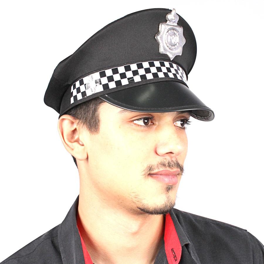 Kit Com 5 Quepes Policial Boina Farda Fantasias Festas - Aluá Festas 897e30322e4