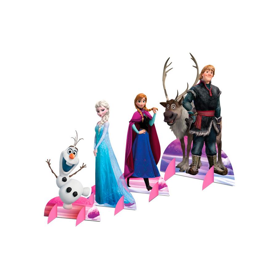 Kit Decoração De Mesa Frozen 8Un