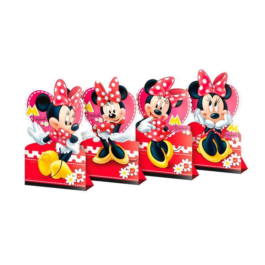 Kit Decoração De Mesa Minnie 4Un