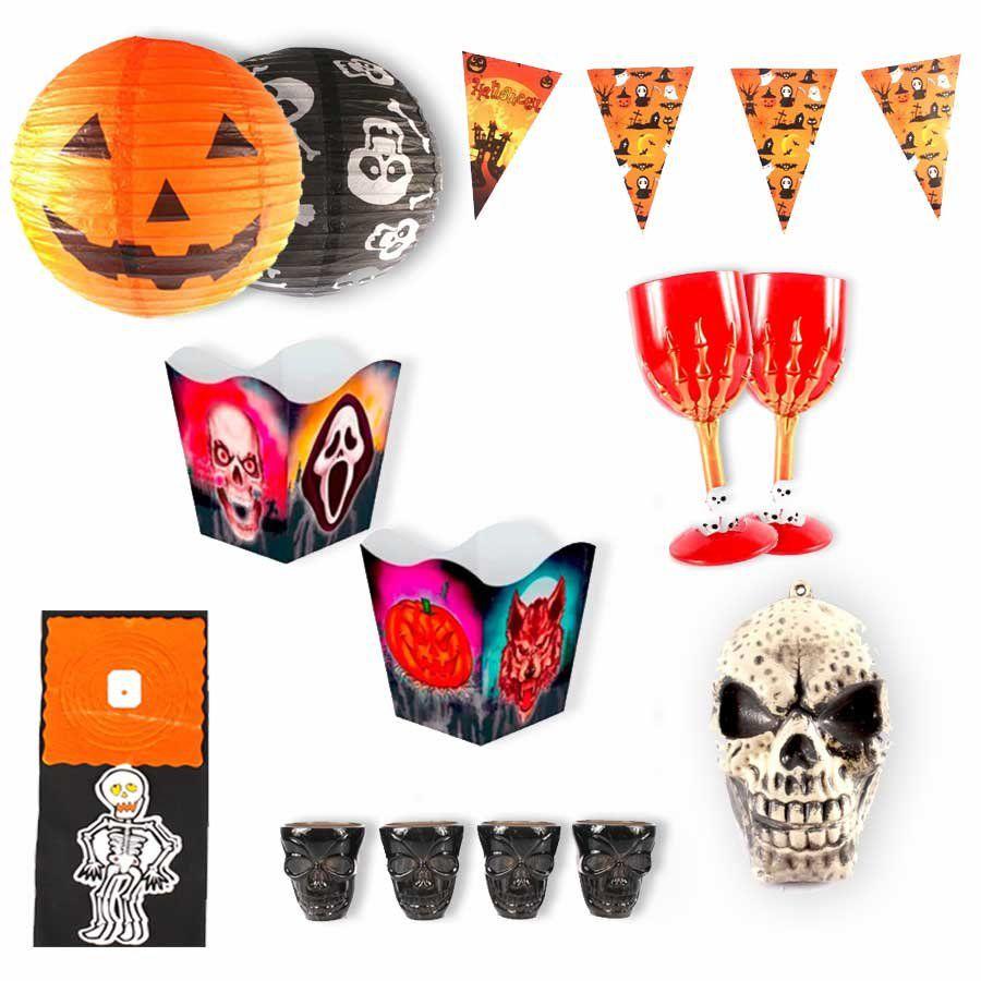 Kit Decoração Halloween 146 Itens