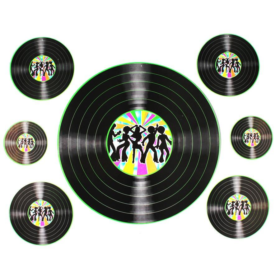 Kit Discos De Vinil Cartonados 7Un
