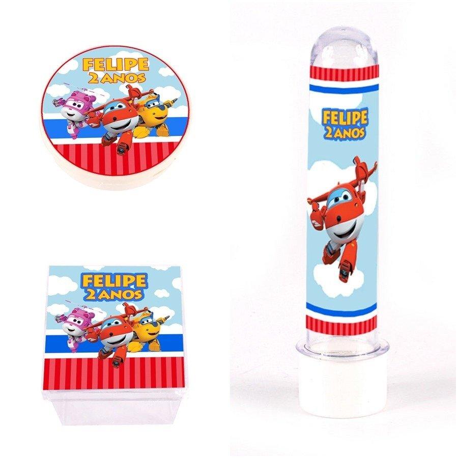 Kit Festa Lembrancinhas Personalizadas 60 Itens Super Wings