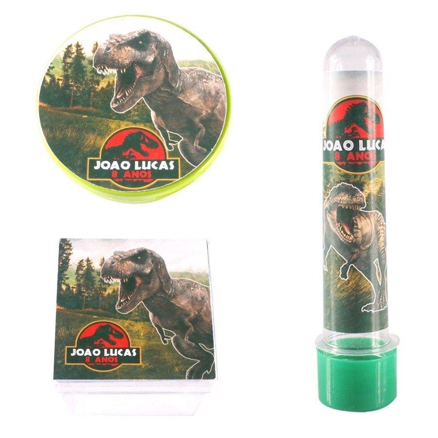 Kit Festa Lembrancinhas Personalizadas 90 Itens Dinossauros