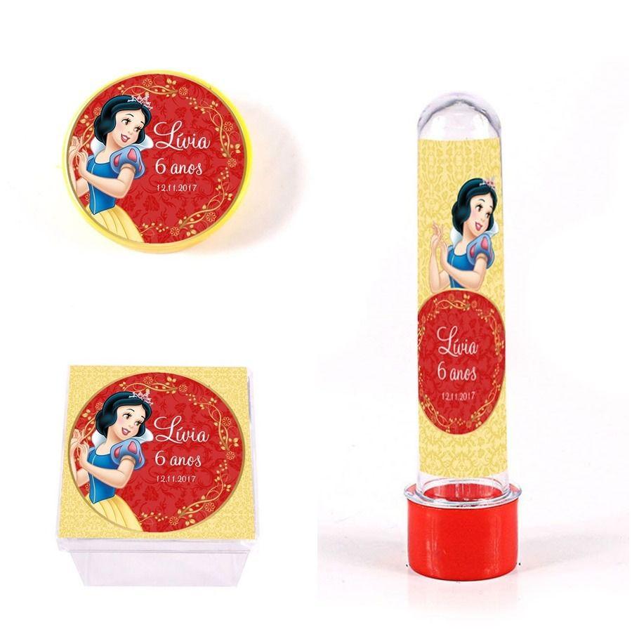 Kit Lembrancinhas Personalizadas 60 Itens Branca De Neve