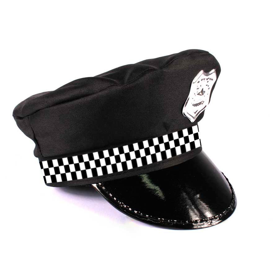 Kit Quepe Policial + Algema Metalizada - Festa Cosplay - Aluá Festas 6ebda3f14e2