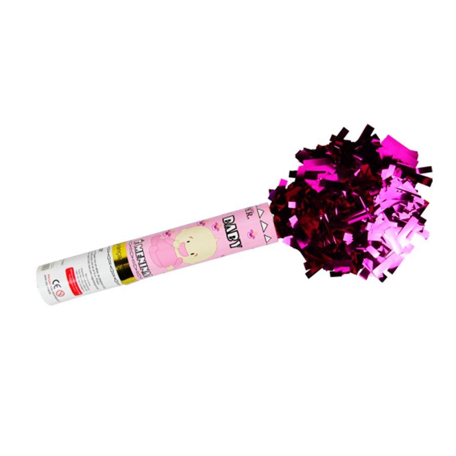 Lança Confetes Rosa Para Chá de Revelação Menina