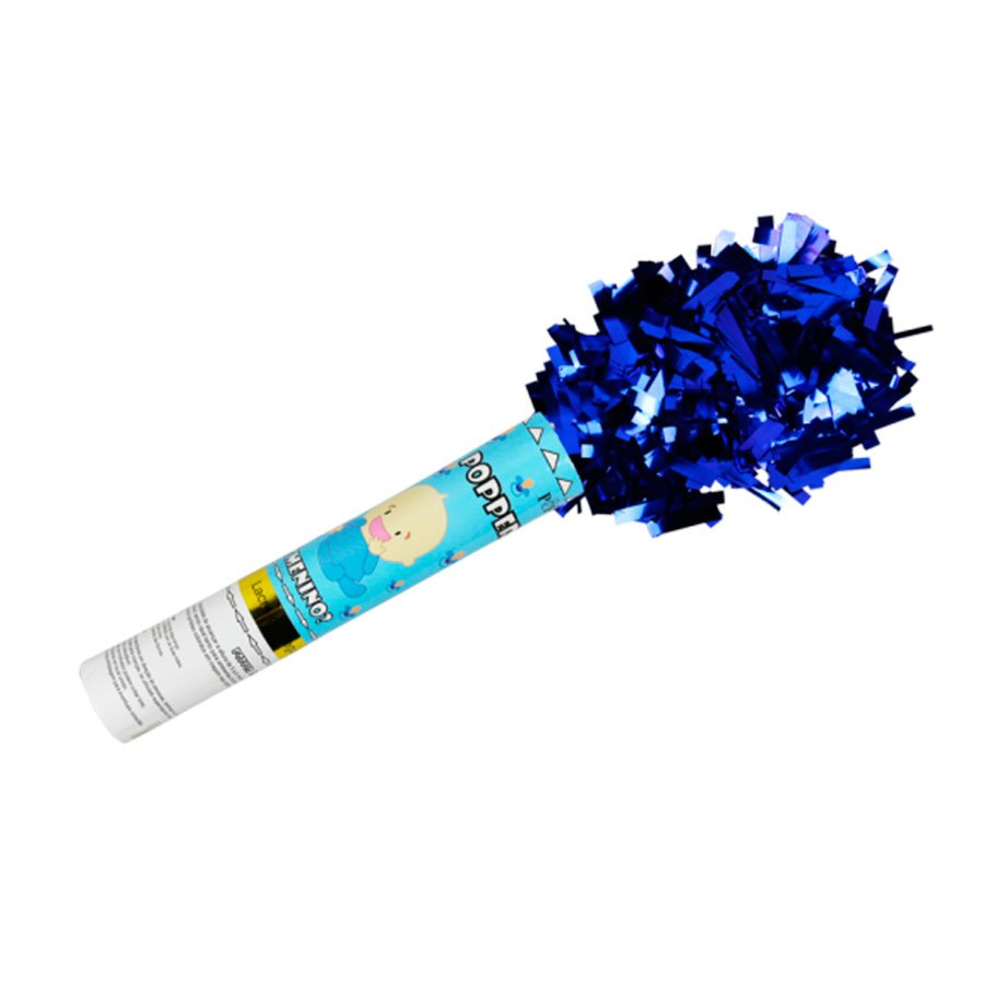Lança Confetes Azul Para Chá de Revelação Menino