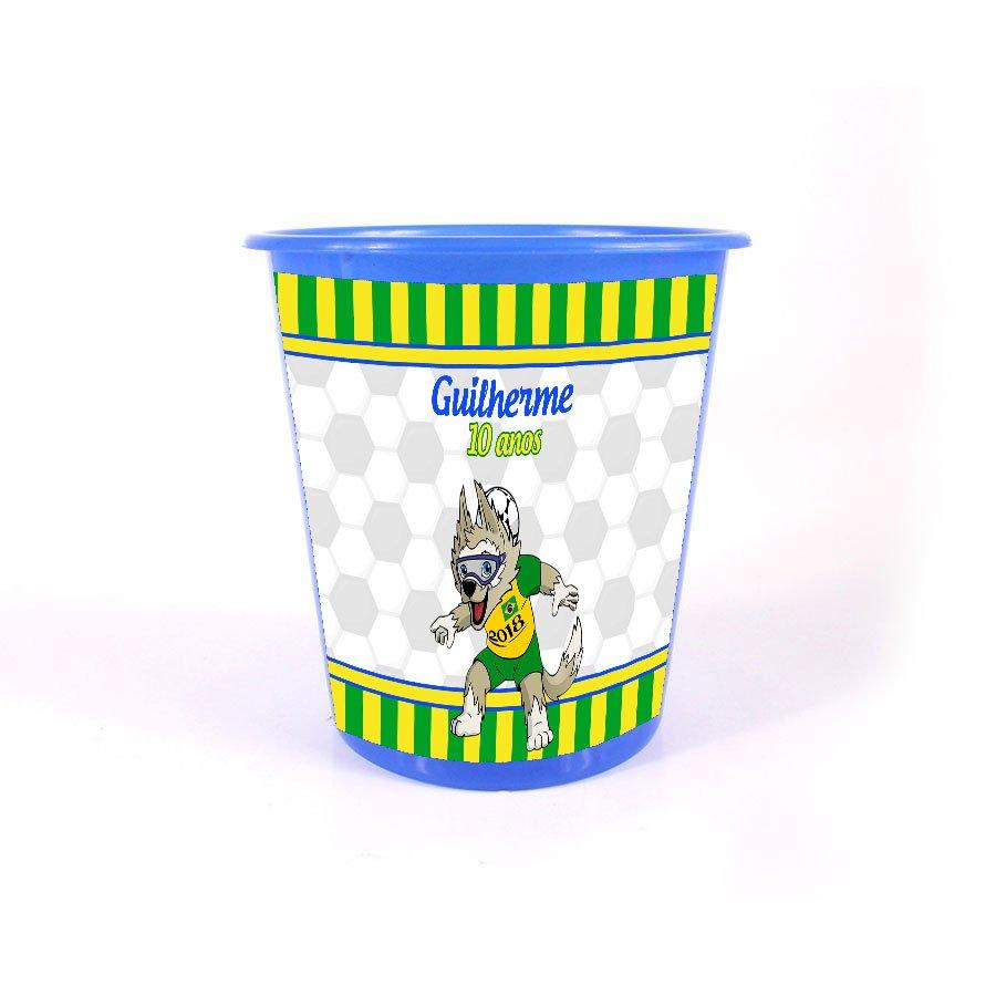 Lembrancinha Balde de Pipoca Personalizado Copa 2018