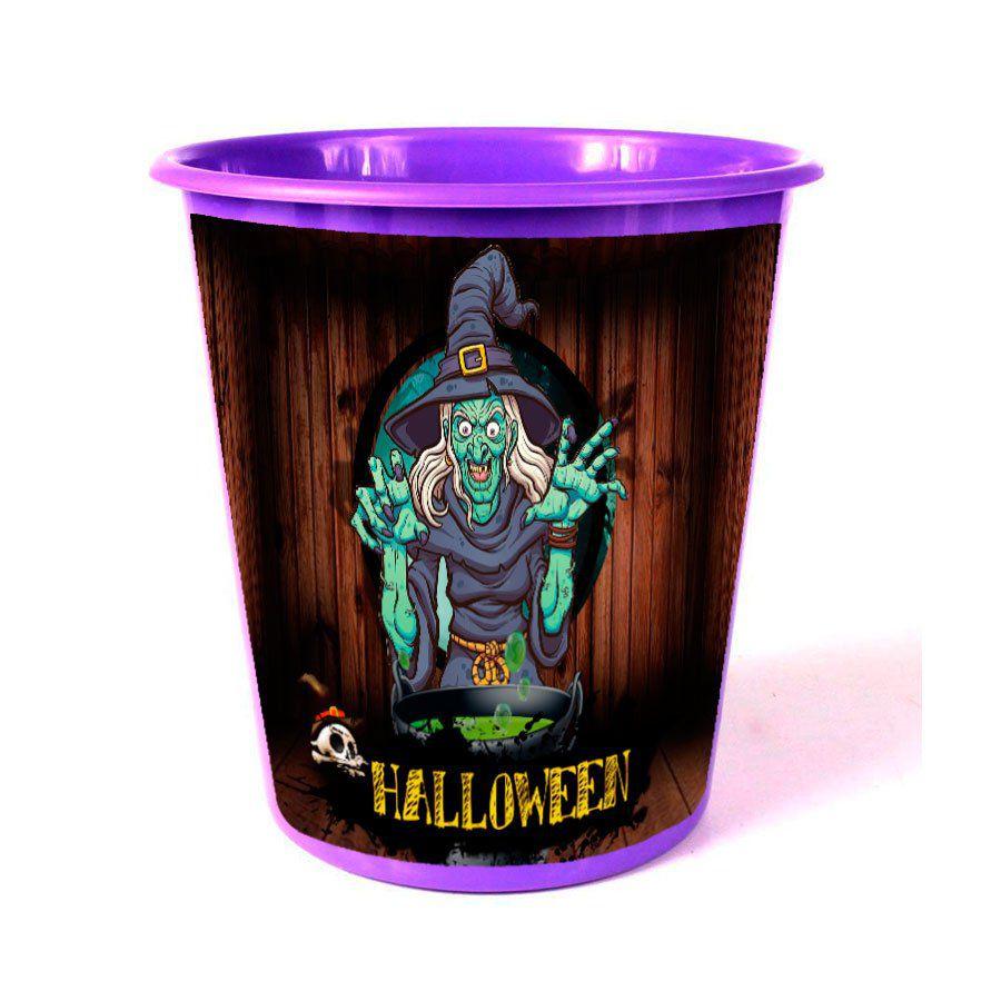 Lembrancinha Balde de Pipoca Halloween