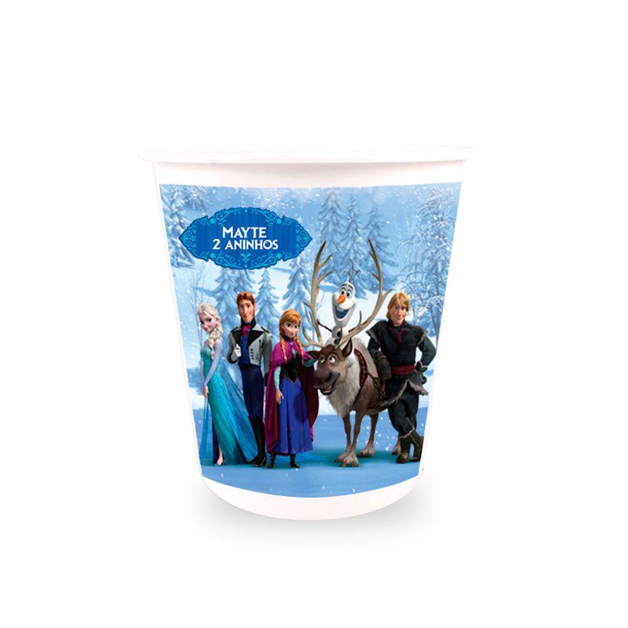 Lembrancinha Balde de Pipoca Personalizado Frozen 2