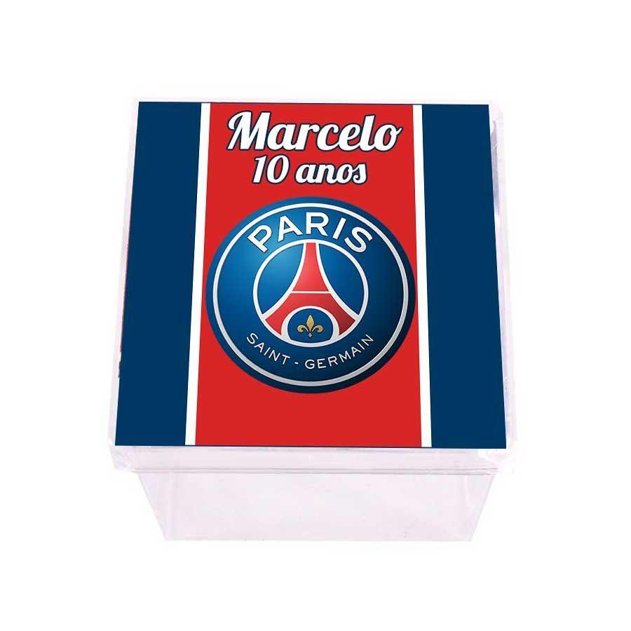 Lembrancinha Caixa Acrílica Personalizada Paris Saint Germain