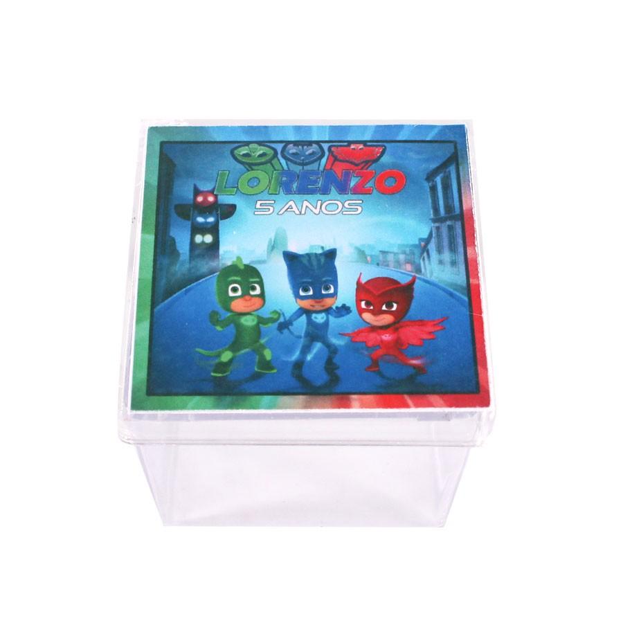 Lembrancinha Caixa Acrílica Personalizada PJ Masks