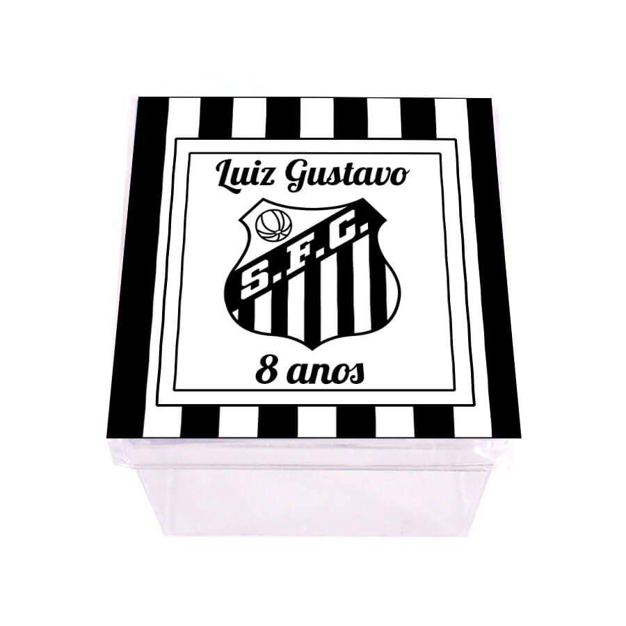 Lembrancinha Caixa Acrílica Personalizada Santos