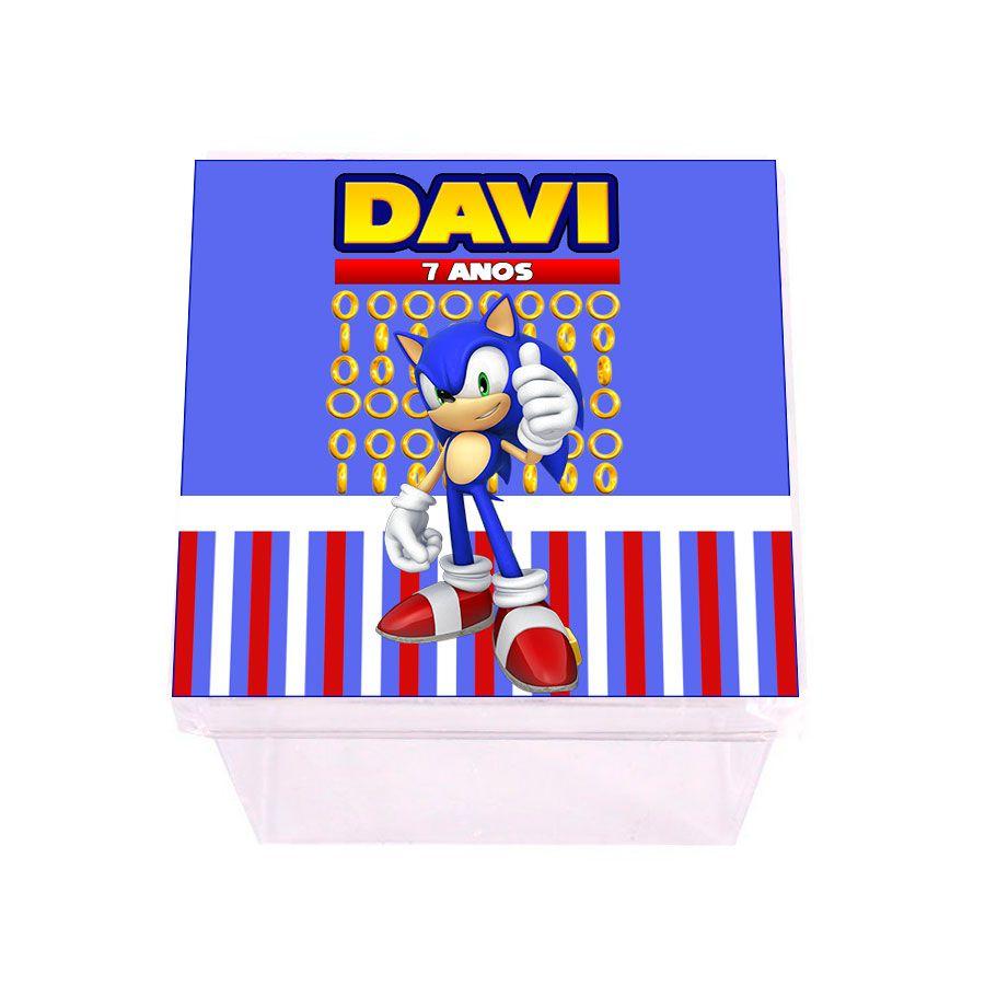 Lembrancinha Caixa Acrílica Personalizada Sonic